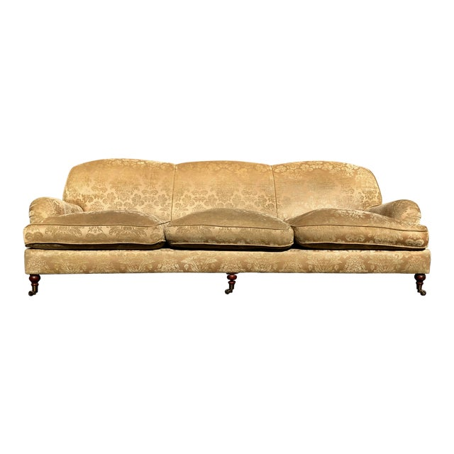 Modern Ralph Lauren Damask Wyman Sofa For Sale