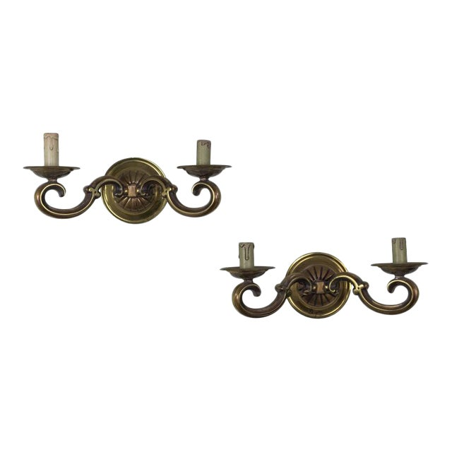 Pair of French Gilt Bronze Sconces - Image 1 of 11