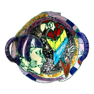 Saldatis Studio Art Pottery Bowl For Sale