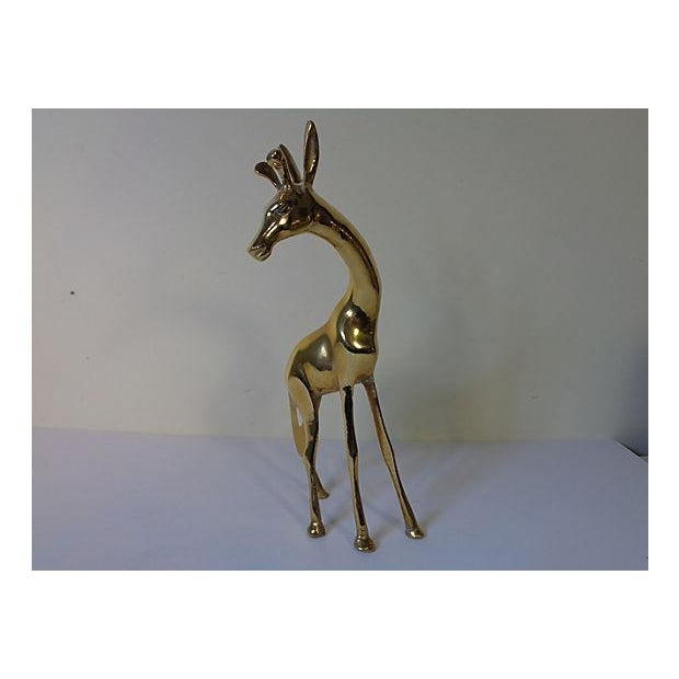 Modernist Brass Giraffes - Pair - Image 6 of 6
