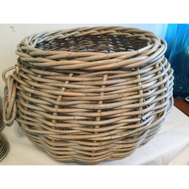 Wood 1990s Contemporary Decorative Basket For Sale - Image 7 of 7