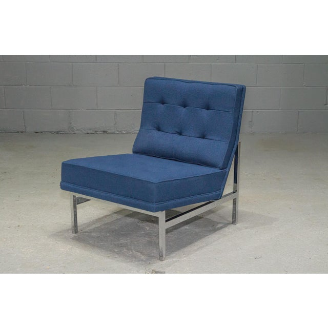 1960s Vintage Florence Knoll Armless Lounge Chair For Sale - Image 11 of 11