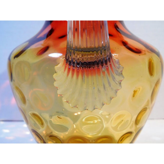 Ruby Red Antique Mt. Washington Glass Company Amber Rose Art Glass Pitcher, Circa 1880 For Sale - Image 8 of 13
