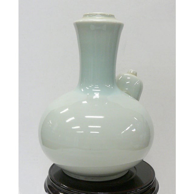 Asian Chinese Porcelain Celadon White Vase For Sale - Image 3 of 6