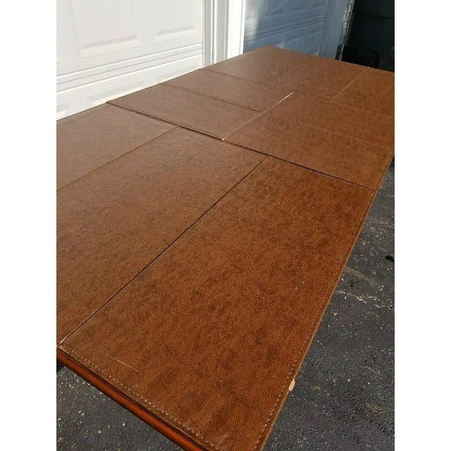 L. Hitchcock Furniture Harvest Trestle Table with 2 Leafs - Image 7 of 8