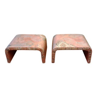 Waterfall Benches- a Pair For Sale