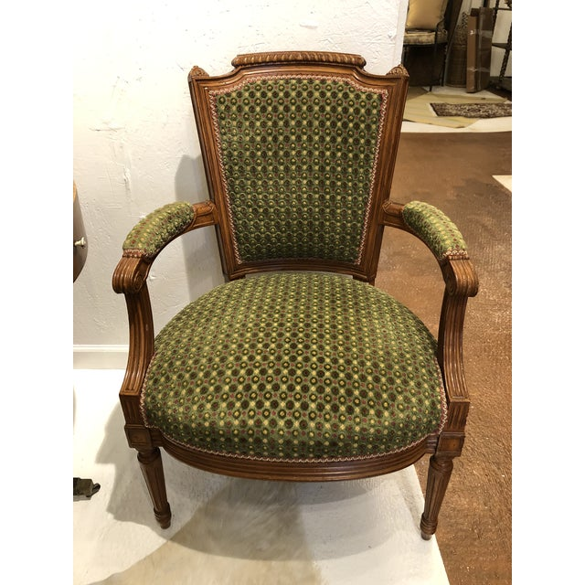 Textile Brunschwig & Fils French Carved Chair (Upholstery Like New) For Sale - Image 7 of 7
