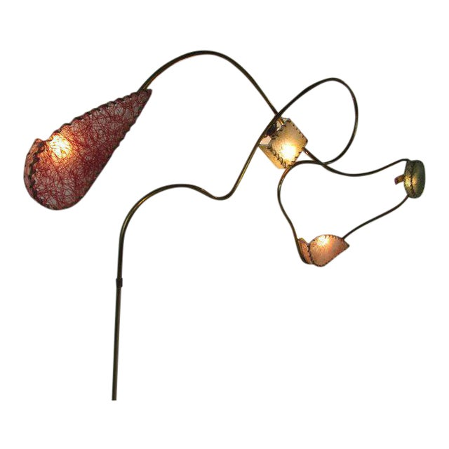 Rare Brass Sculptural Wall Light by Majestic For Sale