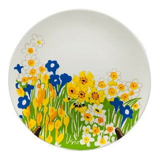 Mikasa Field Flowers Chop Plate Designed by Vera Neumann For Sale