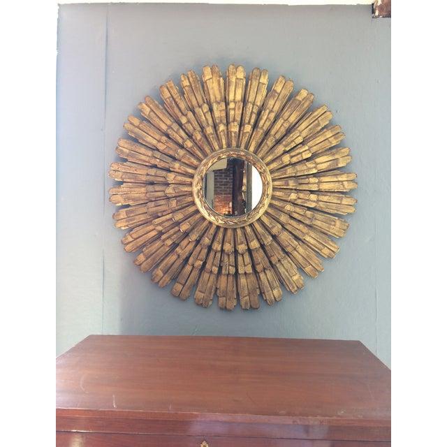 Large Italian Giltwood Sunburst Mirror - Image 3 of 5