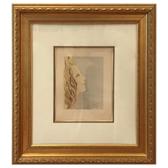 Mid-Century Modern Painting, Grandest Beauty of Beatrice by Salvador Dali For Sale