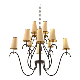 Jean Royere Style Monumental Chandeliere For Sale