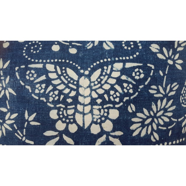 Homespun Batik Butterfly Pillow