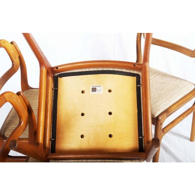 1960s Danish Teak Chairs by Uldum Møbelfabrik, 1960s - Set of 4 For Sale - Image 5 of 11