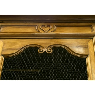 French Provincial Walnut Armoire Cabinet Preview