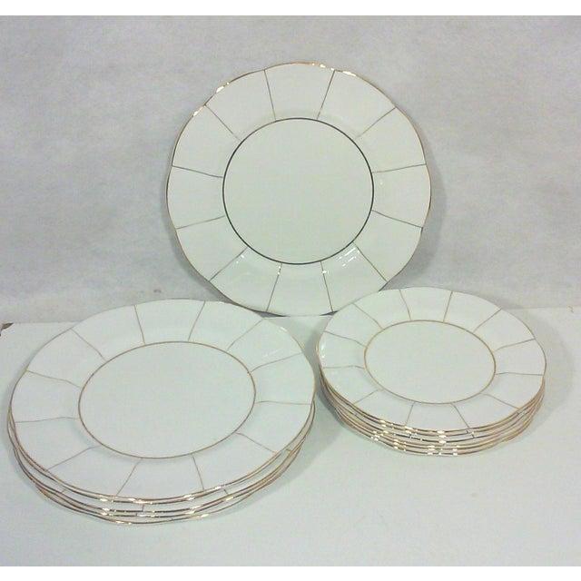 White English Bone China Lotus Plates - Set of 12 - Image 2 of 6