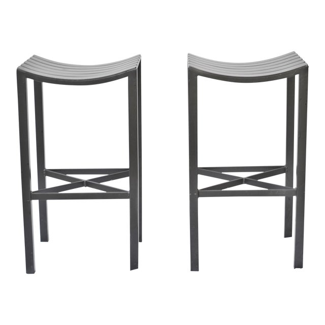 A Pair of Charleston Forged Iron Parsons Stools - Image 1 of 10