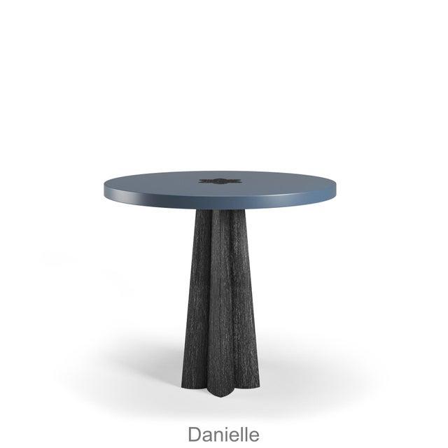 Danielle Side Table - Black Cerused Oak - Newburyport Blue For Sale In Los Angeles - Image 6 of 6