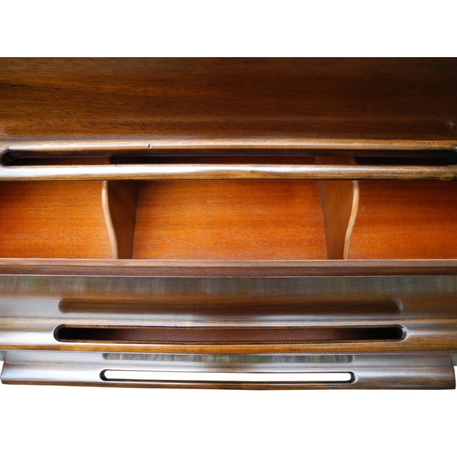 Wood Mid-Century Modern Highboy or Tall Dresser by Edmond J. Spence For Sale - Image 7 of 10