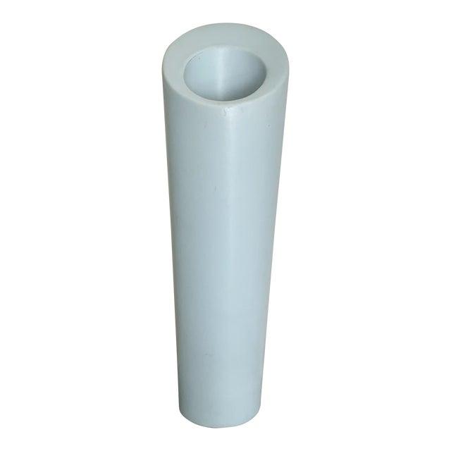 Modern Minimalist Light Blue Ceramic Vase For Sale