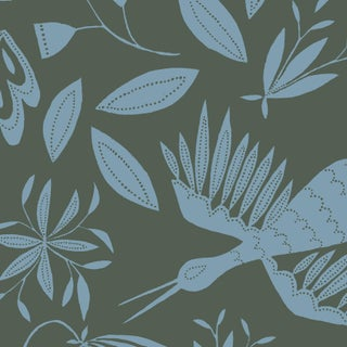 Julia Kipling Otomi Grand Wallpaper, 3 Yards, in North Stone For Sale