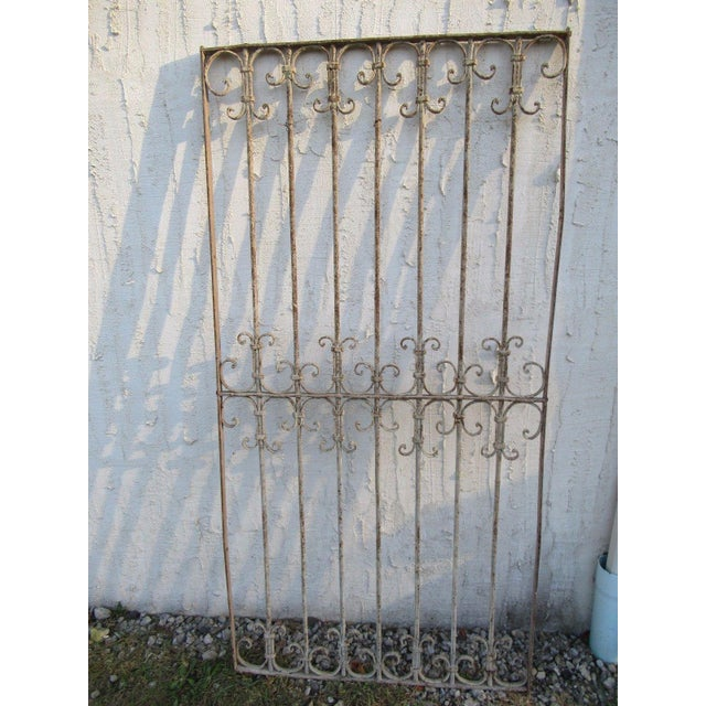 Antique Victorian Iron Gate Window Garden Fence Architectural Salvage Door #042 For Sale In Philadelphia - Image 6 of 6