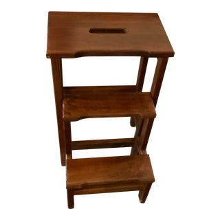 1980s Folding Library Step Stool/ Plant Stand For Sale