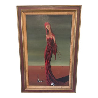 Original Jorge Noceda Sanchez Surrealist Oil Painting For Sale