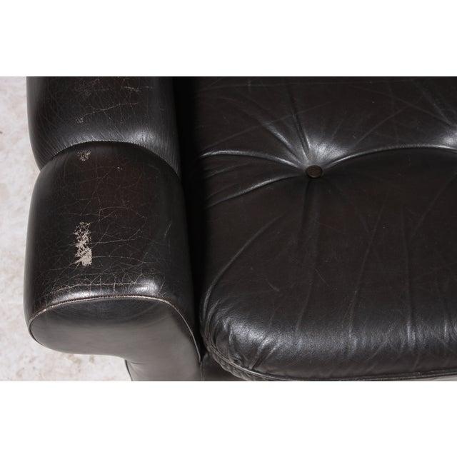 Danish Retro Black Sofa - Image 5 of 6