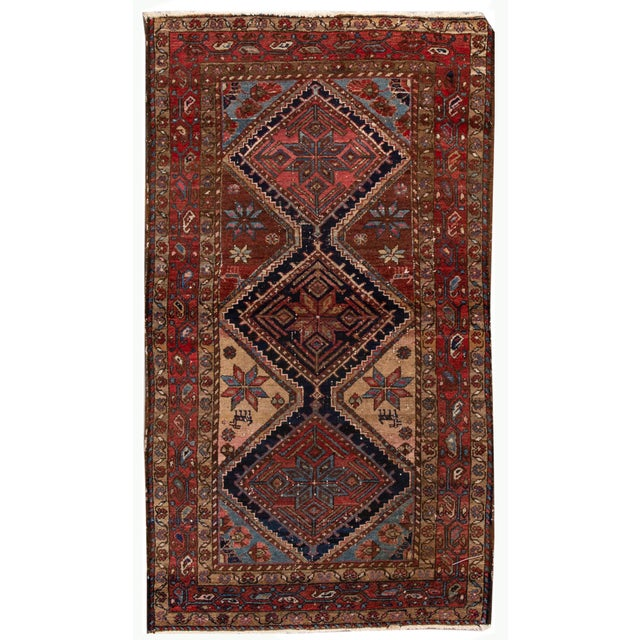 Vintage Heriz Wool Rug 3'7'' X 6'5'' For Sale - Image 13 of 13