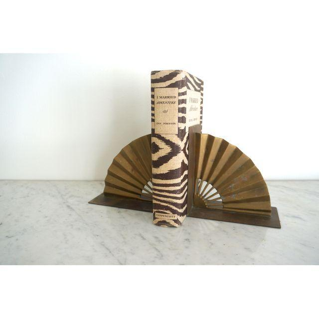Brass Fan Bookends - Pair - Image 3 of 4