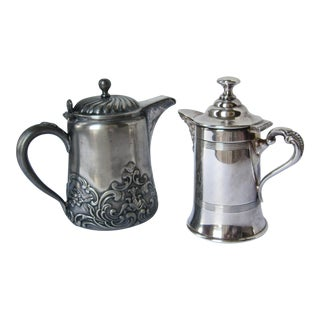 Silver-plate Small Coffee Pots - a Pair