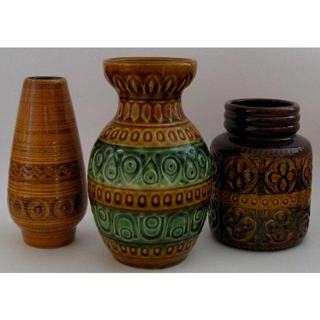 Vintage German Ceramic Vases Set Of 3 Chairish