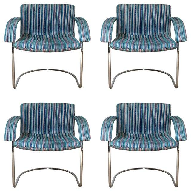 Set of Four Italian Mid-Century Chairs by Saporiti Italia For Sale