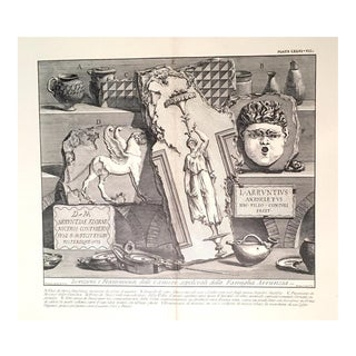 Antique Architectural Lithograph After Piranesi For Sale