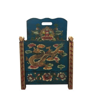 Vintage Hand Made Asian Dragon Magazine Stand