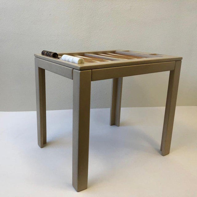 Modern Lacquered Backgammon Table by Steve Chase For Sale - Image 3 of 11