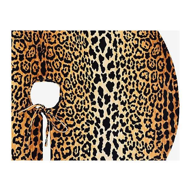 """Only One Left!!! Custom Tailored X-Large 55"""" Leopard Spot Velvety Christmas Tree Skirt - Image 9 of 9"""