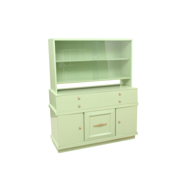 Basic Witz Midcentury Green Sideboard For Sale