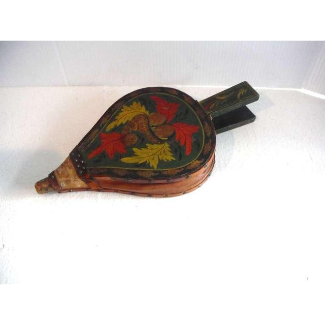 Mid 19th Century Fantastic 19thc Paint Decorated New England Bellows For Sale - Image 5 of 8