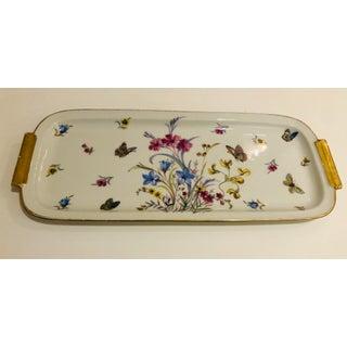 1960s Vintage Limoges Butterfly Motif Porcelain Dresser Tray Preview