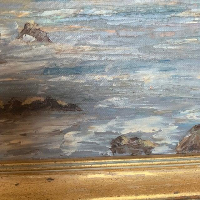 Blue Oregon Coast Sunset Painting For Sale - Image 8 of 9
