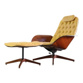 Mid Century Modern Plycraft by George Mulhauser Mr. Chair & Ottoman- 2 Pieces For Sale