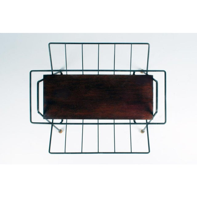 Mid-Century Modern Tony Paul Magazine Rack Tray Table For Sale - Image 3 of 5