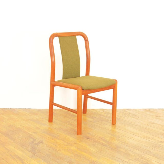 Mid-Century Modern 1960s Vintage Danish Teak Dining Chairs - Set of 6 For Sale - Image 3 of 11