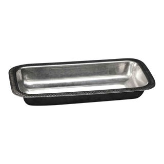 Salvaged Waldorf Silver Tong Rest or Serving Dish For Sale
