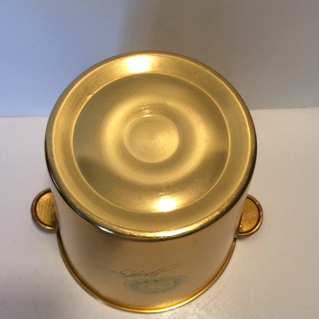 Aluminum Gloria Ferrer Gold Anodized Aluminum Champagne Bucket For Sale - Image 7 of 11