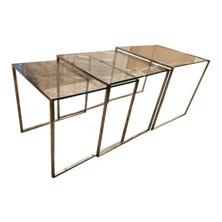 Mid-Century Milo Braughman/Thayer Coggin Nesting Tables - 3 Pieces For Sale
