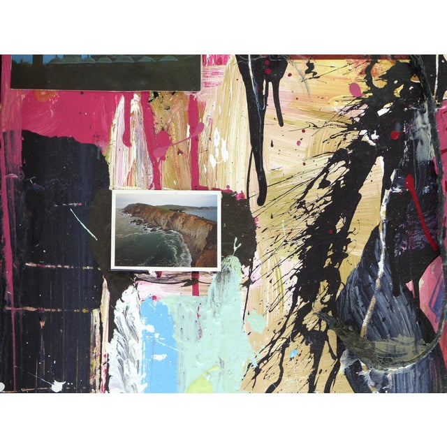 """Wood William P. Montgomery Abstract Mixed Media Painting """"Swamp Talk 1/2"""", 2015 For Sale - Image 7 of 13"""