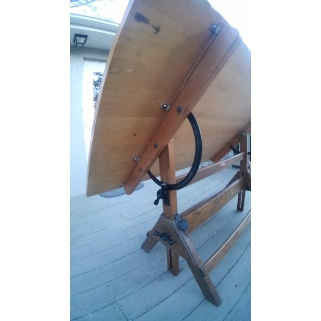 1950s Hamilton Oak amp Maple Drafting Table Chairish